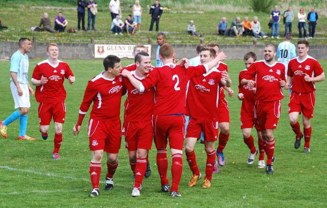 Celebrations after Ross double Glens' lead