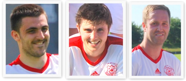 Gareth Campbell, Lewis Sloan and Robbie Henderson