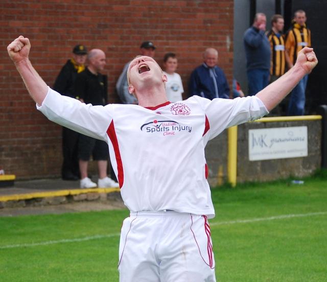 Top goalscorer Gareth Armstrong
