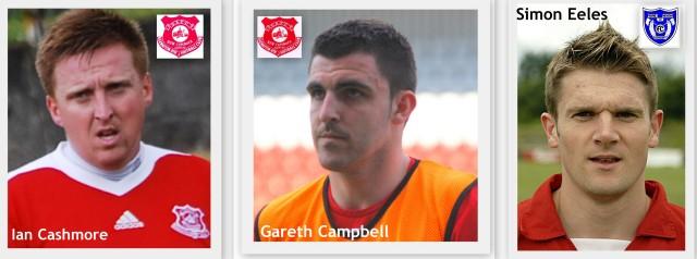Goalscorers Ian Cashmore, Gareth Campbell & Simon Eeles