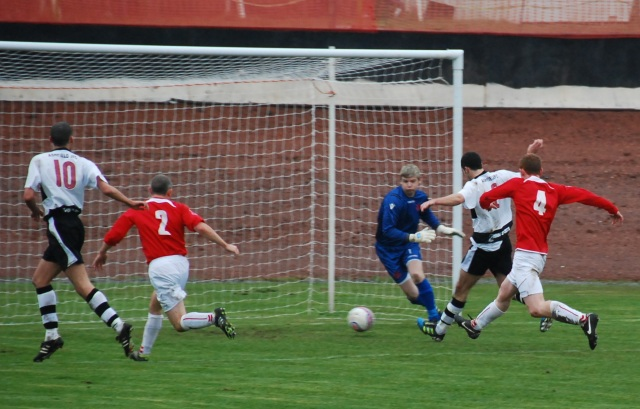 Chris Hall opens the scoring
