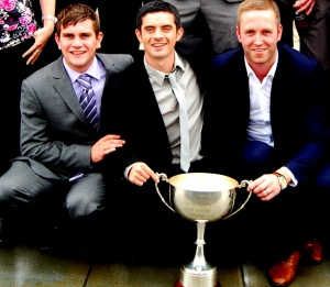JP (centre) with Paul McKenzie and Robbie Henderson