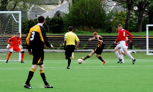 Sean Lawrence slots home the openr