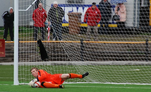 Ally saves as Ross checks out from the terracing