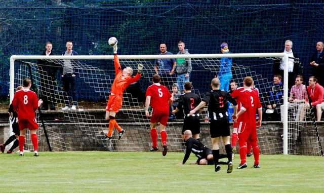 Ally Semple saves from Andy Gibson