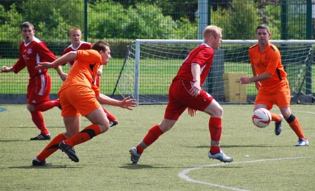 Gareth Armstrong  on the ball