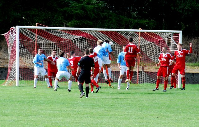 Danny Mitchell heads home