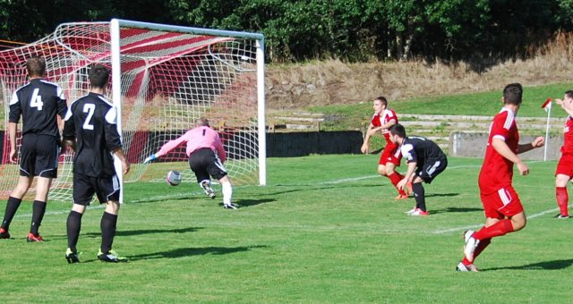 Cameron Marlow's cross diverted into the net