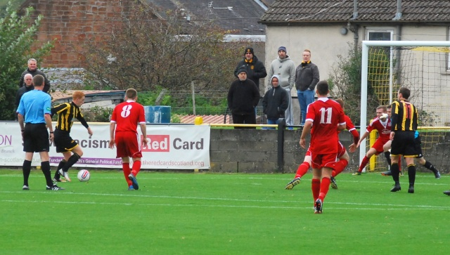 Colin Spence opens the scoring