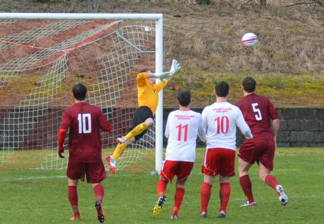 Aaron Connolly's free kick  finds the net