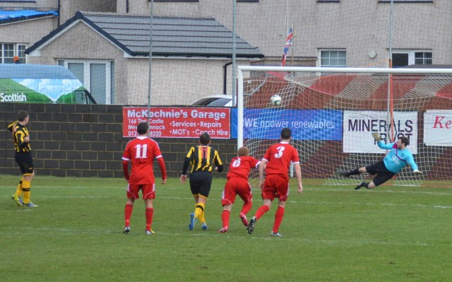 David Gormley scores from the spot