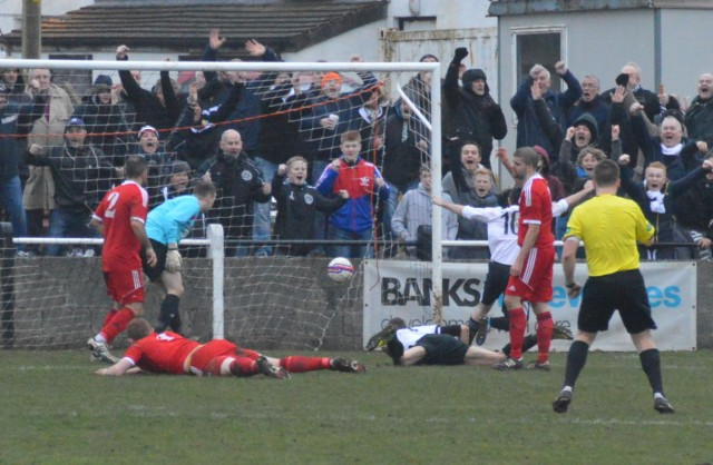Chris Robertson heads home equaliser