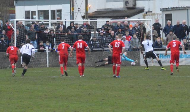 Chris Robertson sinks the spot kick