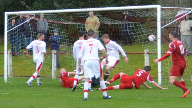 Colin Leiper forces home the equlalser