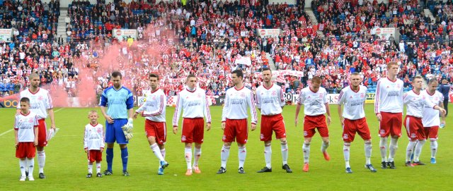 Glenafton line up at Rugby Park