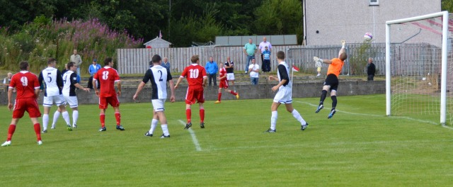 Klark (out of shot) lasers home the equaliser
