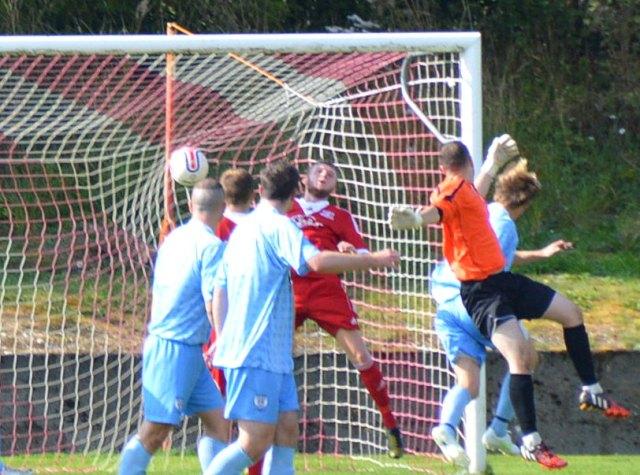 Neil McGregor heads Hurlford ahead