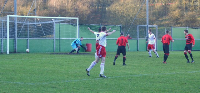 Cammy Marlow's shot ends in the net