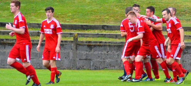 Glens celebrate Dan's header