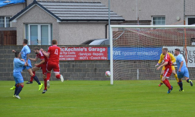 Chris Robertson's heads home the opener
