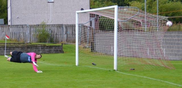 Darren's shot bulges the net