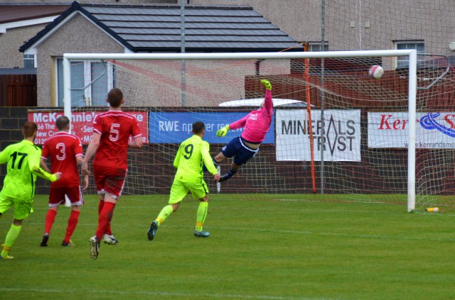 Anthony Holt's free kick finds the net
