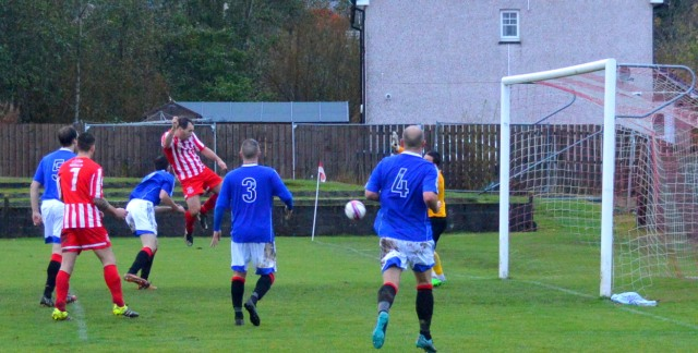 Joe Andrew heads home the equaliser