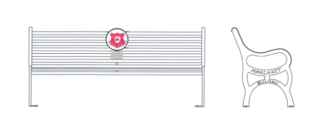 thumbnail_Margaret Buchan Glens badge bench seat design